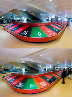 Venice Airport ambient advertising Casino di Venezia